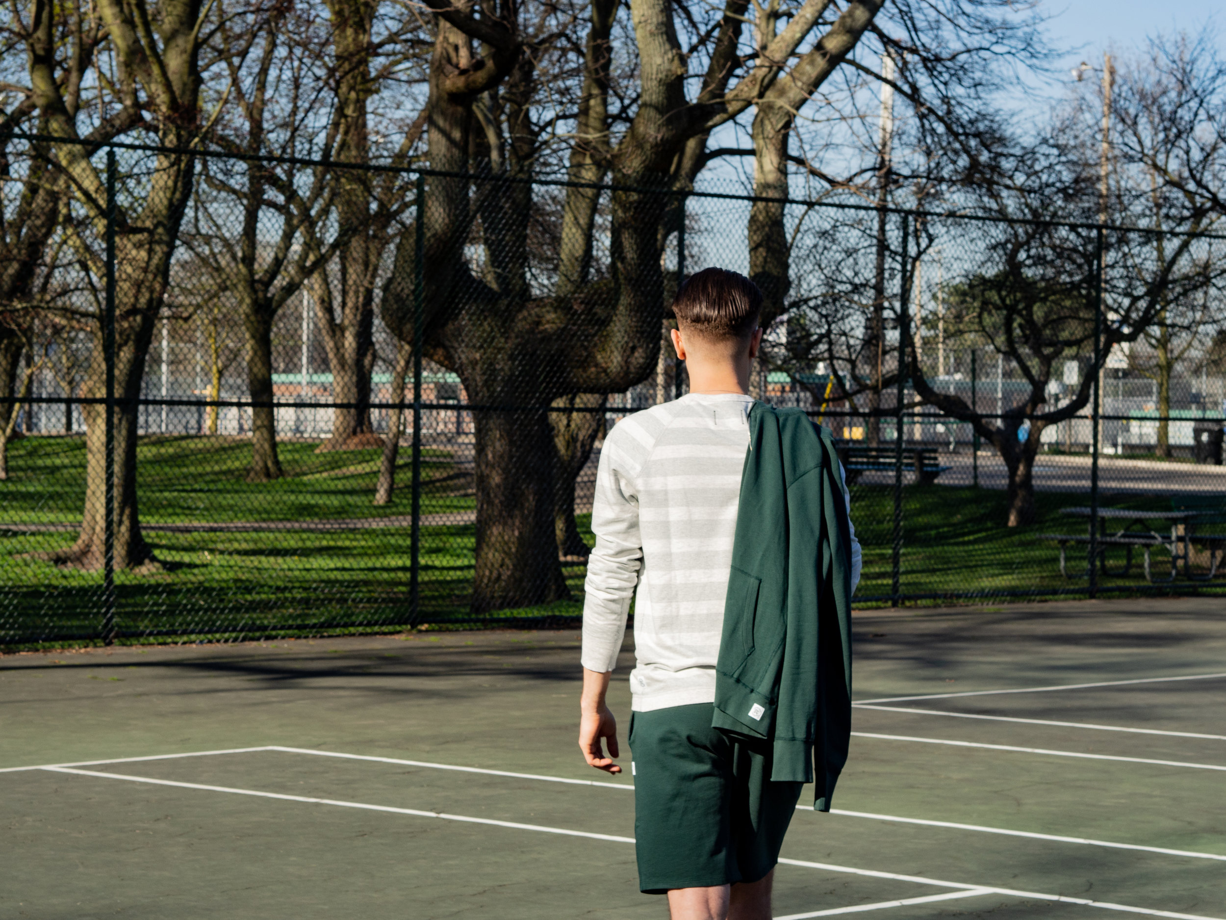 001    Reigning Champ Hoodie,  Crewneck  &  Shorts     Wings + Horns  Trainers