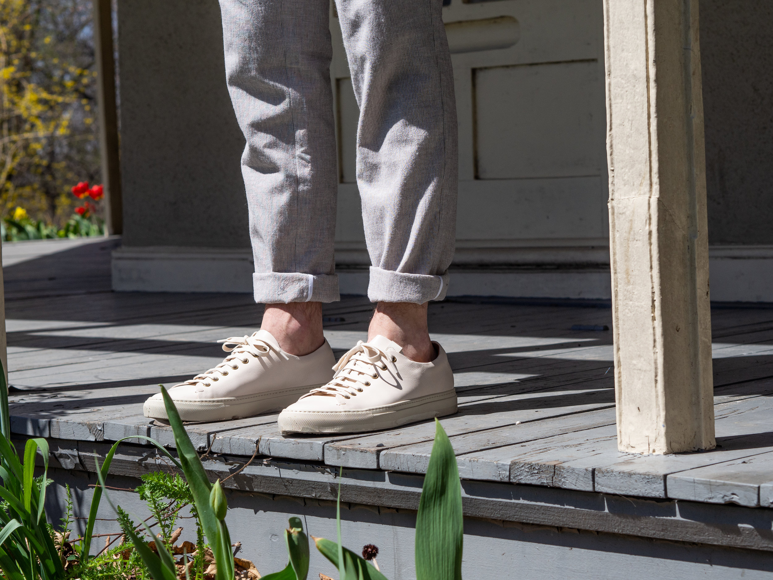 013    18 Waits  Linen Blazer ,  Trousers  &  Shirt     Buttero  Sneakers