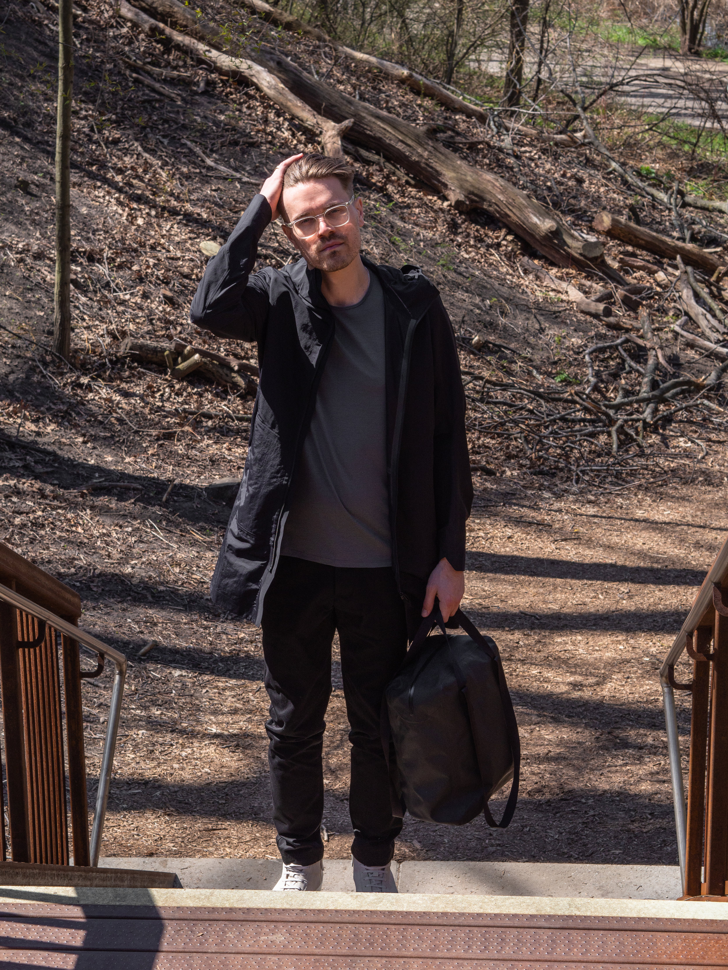 011    Arc'teryx Veilance Monitor SL, Merino Tee and  Tote     Wings + Horns    Trousers     WANT Les Essentiels  Sneakers