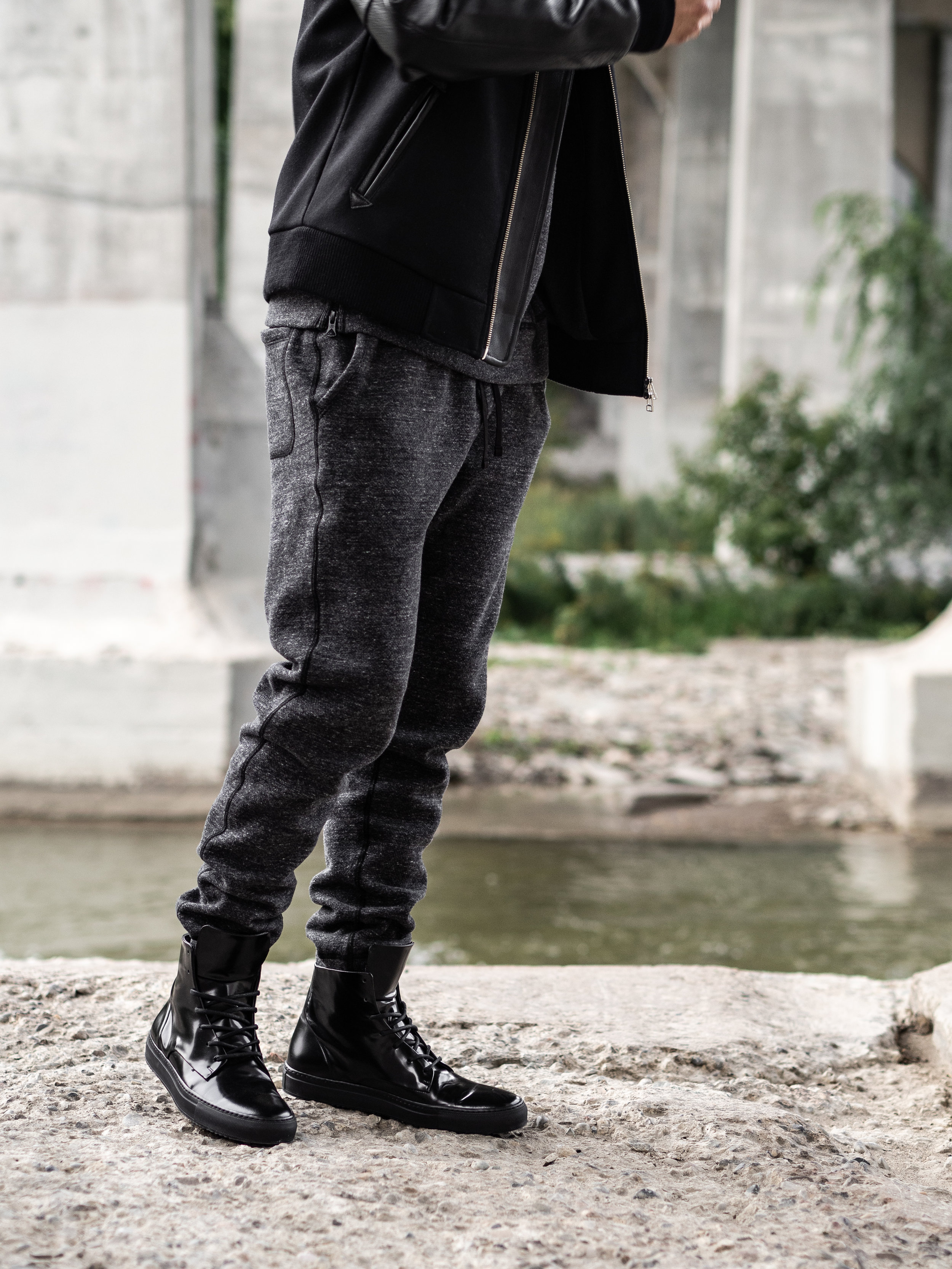 Look 002    Outclass    Jacket     Reigning Champ    Hoodie    and    Sweats     Wings + Horns    Sneakers
