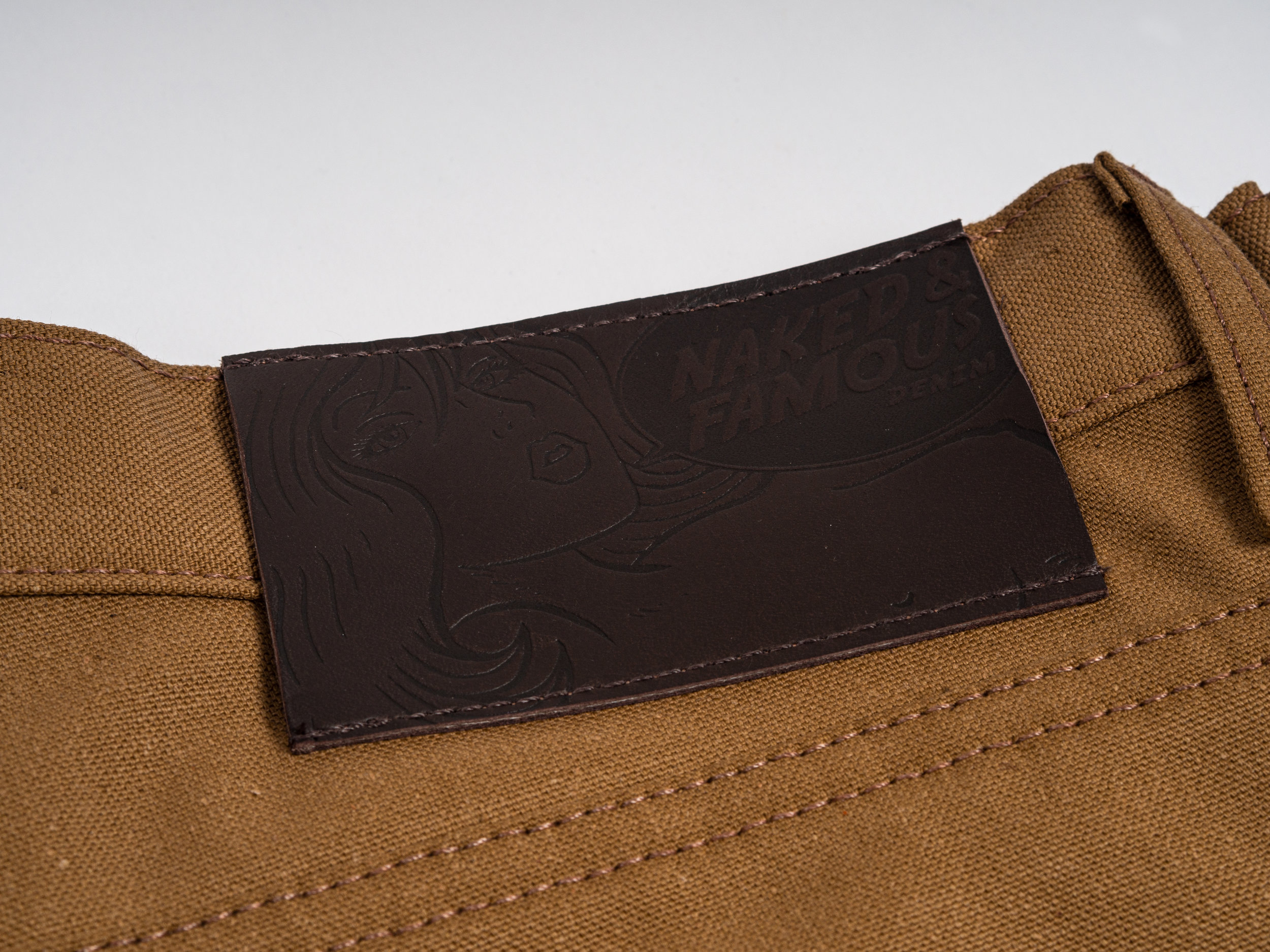 NAKED & FAMOUS DUCK CANVAS SELVEDGE - The Duck Canvas Selvedge uses a tightly woven 10oz plain weave Japanese cotton, which is water resistant and hard-wearing. Duck canvas predates traditional denim and is widely considered to be the original workwear fabric.
