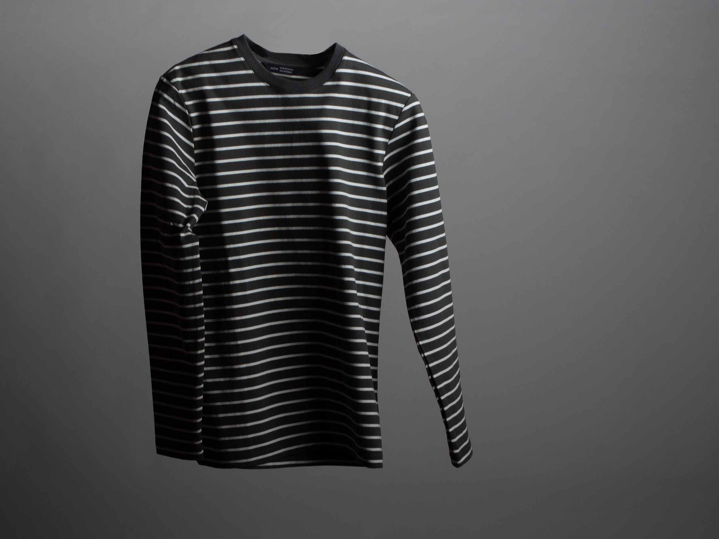 Wings + Horns Heavyweight Jersey Long Sleeve - The Heavyweight Jersey Long Sleeve is an easy fitting take on the classic Breton Stripe Shirt, made with a heavy gauge cotton to insulate against the cold. It features a slight drop shoulder, and is finished with flatlock stitching throughout. The Heavyweight Jersey Long Sleeve is made in Canada.