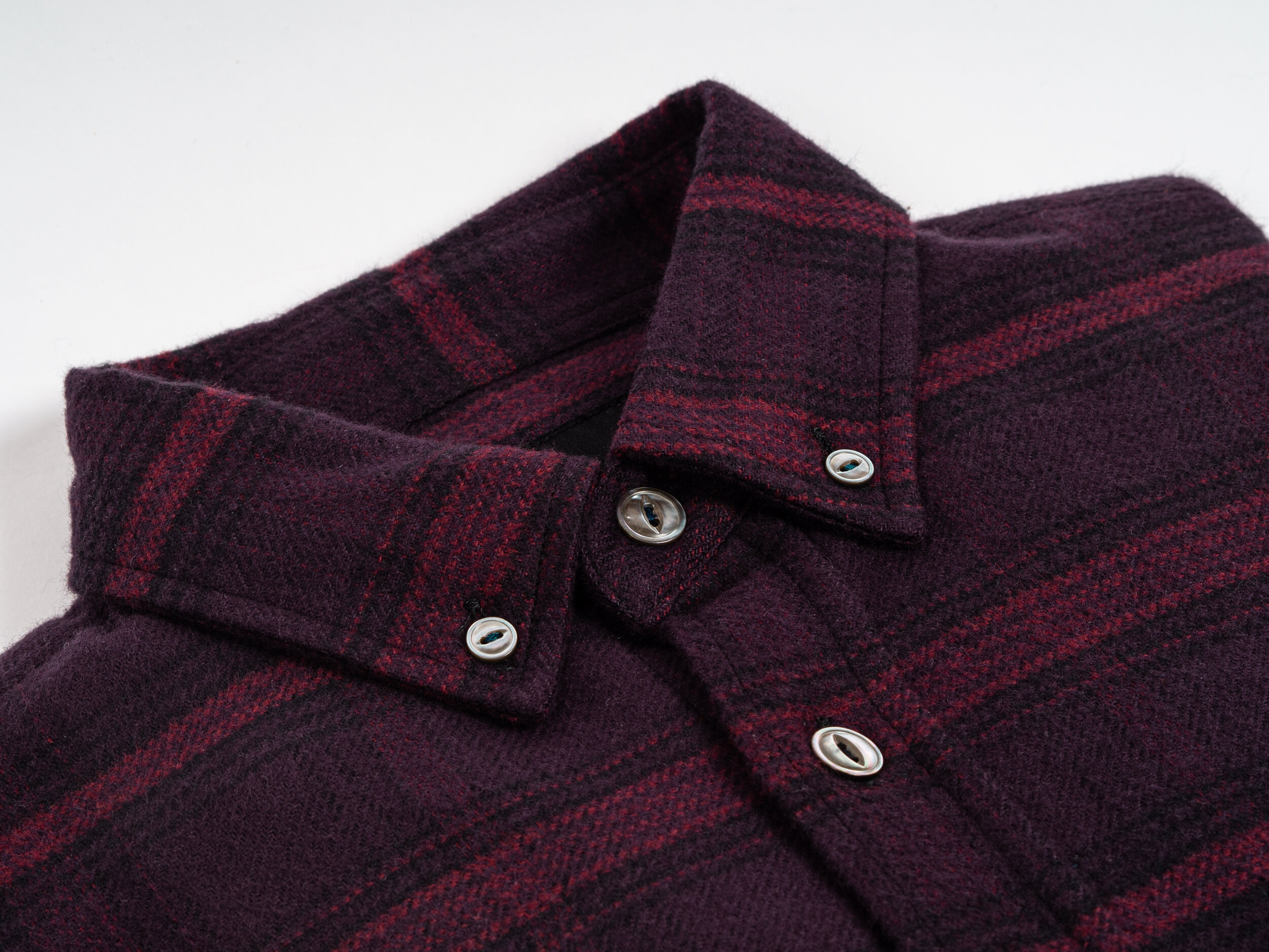 Outclass Flannel Shirting - For Fall '19, Outclass' shirting collection includes a variety of warm, Portuguese flannels, and a 'multi-colour nep' charcoal twill. The shirts all feature mother of pearl buttons, double needle seams, and button down collars. Outclass' oxford fit remains comfortable, though with a tailored look and feel. Outclass' shirting is proudly made in Canada.