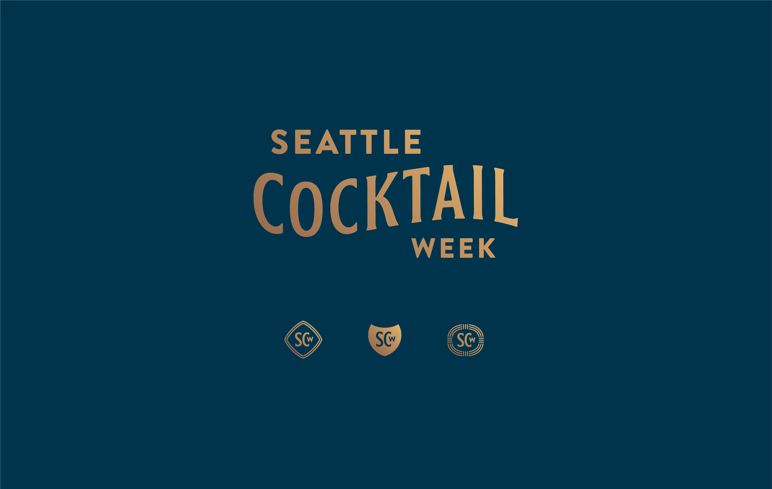 Seattle Cocktail Week is a week-long celebration of the Emerald City's cocktail scene. This wordmark strives to evoke the timeless elegance of the craft cocktail experience.