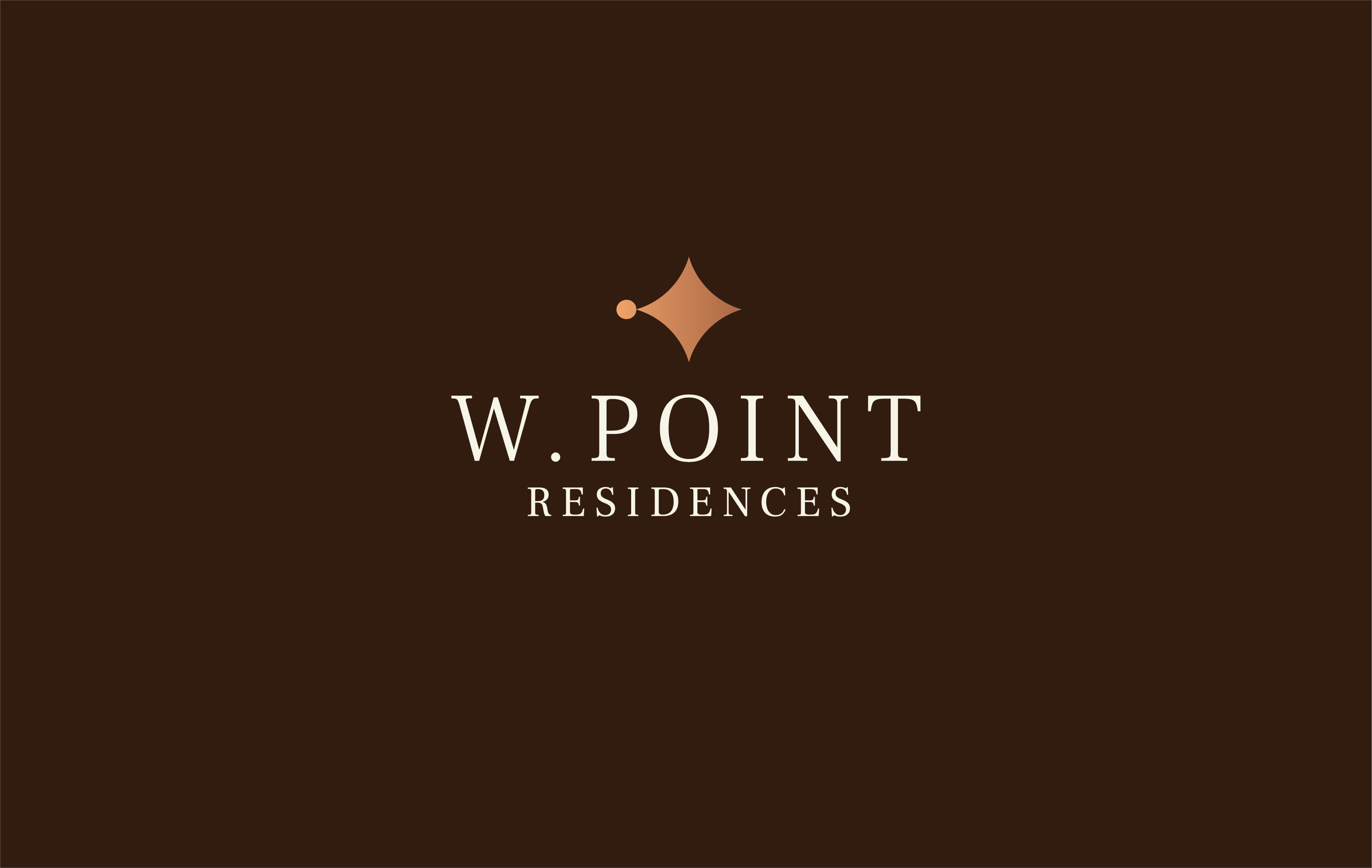 W. Point Residences is a high-end residential housing development in Seattle's Magnolia neighborhood. This mark uses a stylized compass to convey a classic elegance.