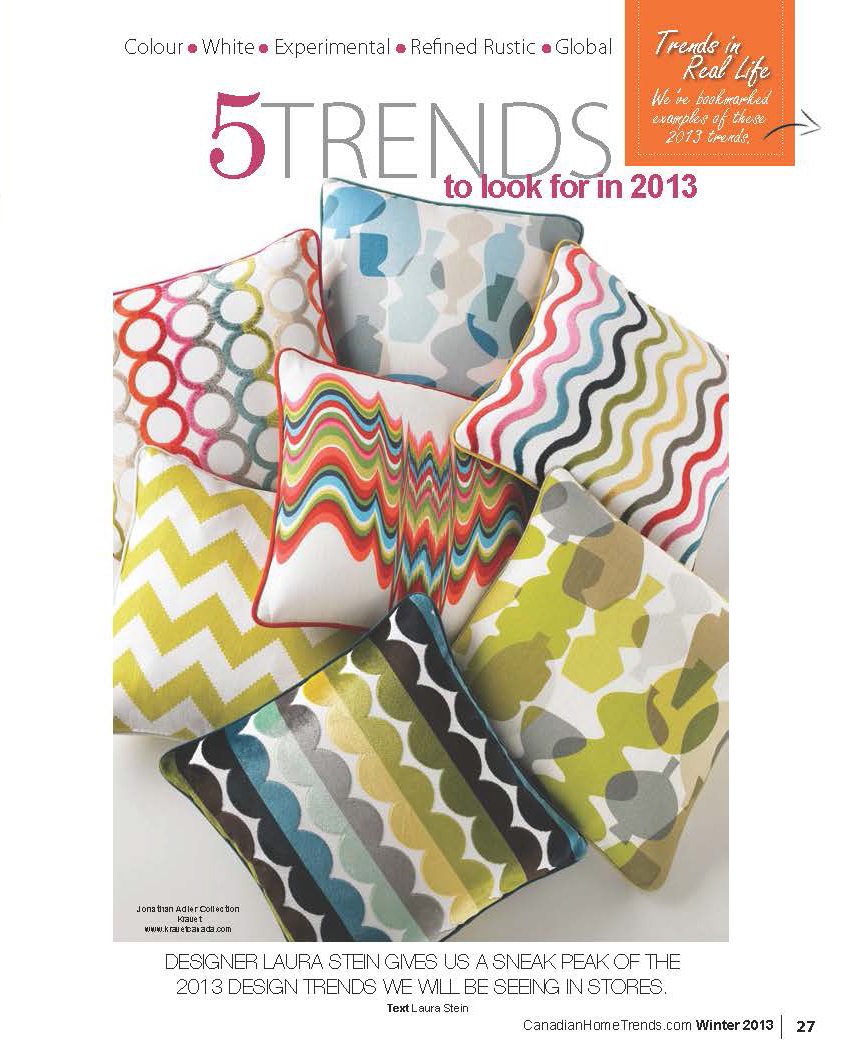Canadian Home Trends, Laura Stein, Design trends