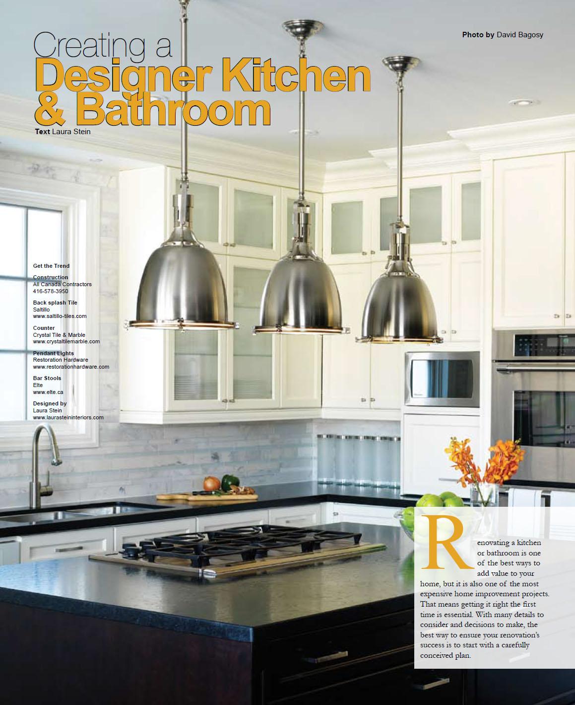 Canadian Home Trends, Laura Stein Interiors, kitchen design, bathroom design