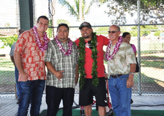 L to R:  Chad Goodfellow, Edward Roybal, Shane Victorino, and Stephen Leis.