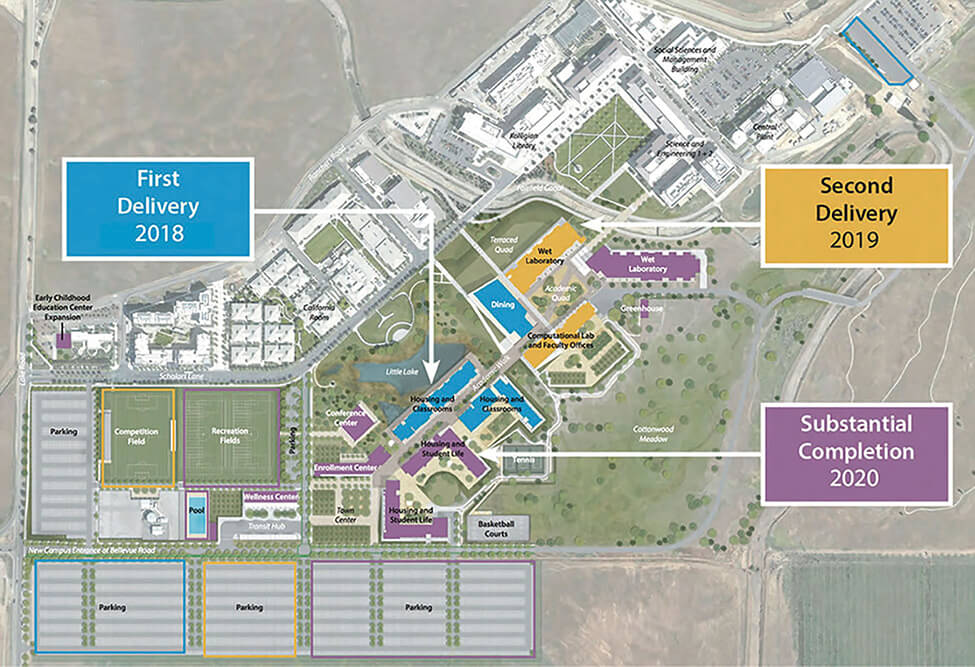 Map showing UC Merced facilities expansion.