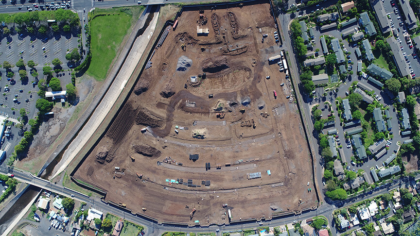 Aerial view of project site