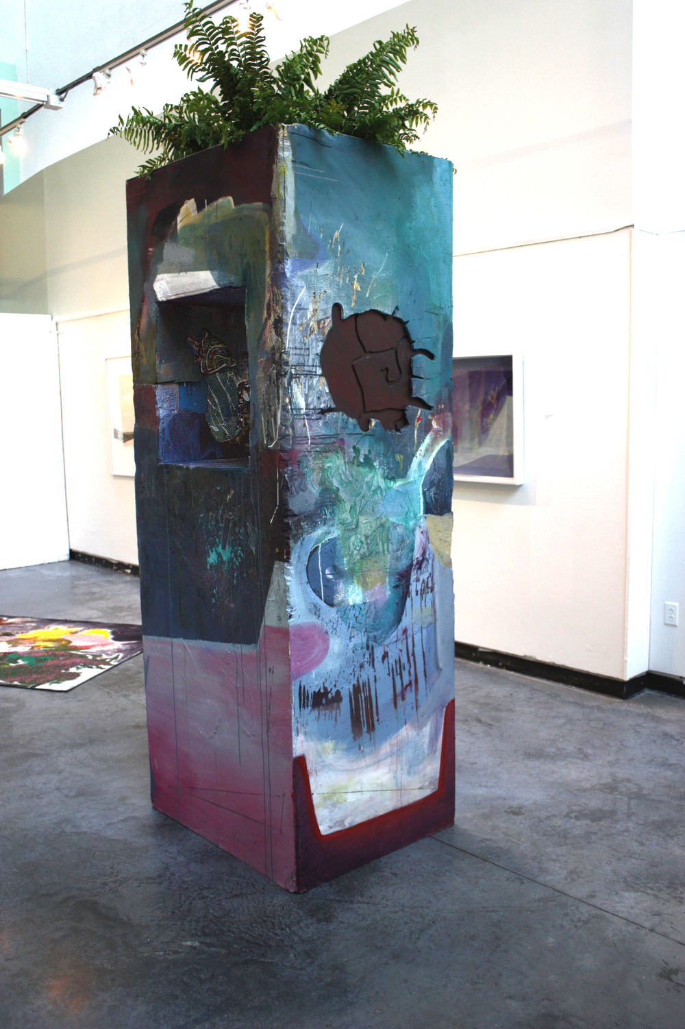 Department  2013  Water soluble oil, plant on constructed OSB board  4 X 9 ft.