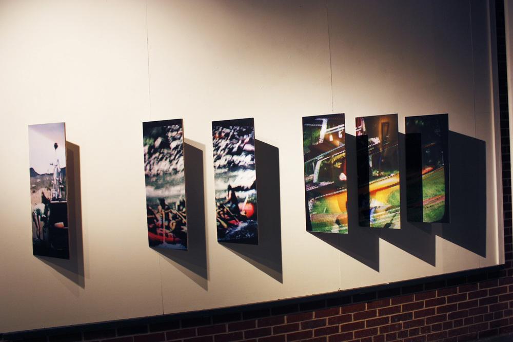 "Three Vehicles  2013  Six Inkjet prints  12"" X 36"" each"