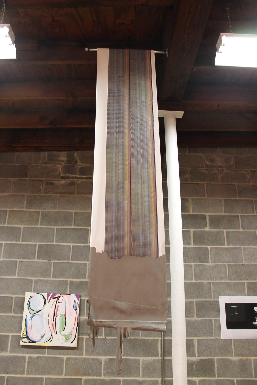 Banner  2013  Enamel paint on Inkjet print  1 X 8.5 ft