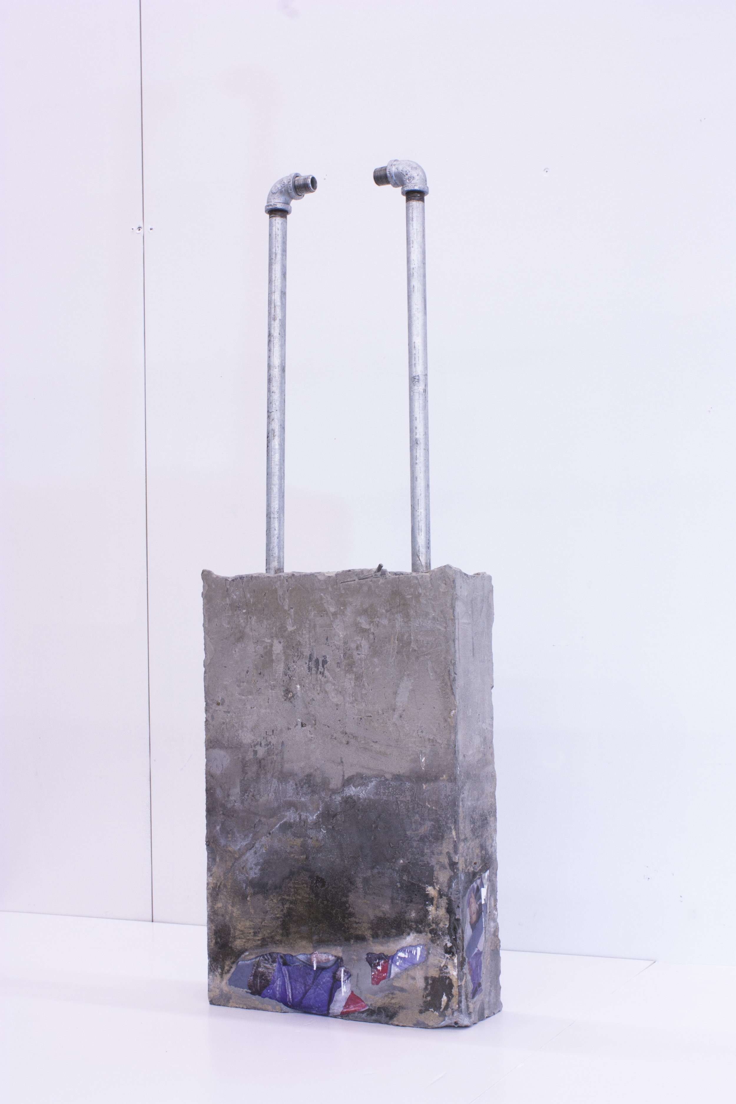 "Luggage  2017  Archival Print, Metal Rods in Concrete  16"" X 45"" X 4"""