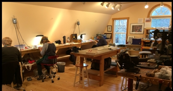 Studio space with lots of light! Can accommodate up to five students!