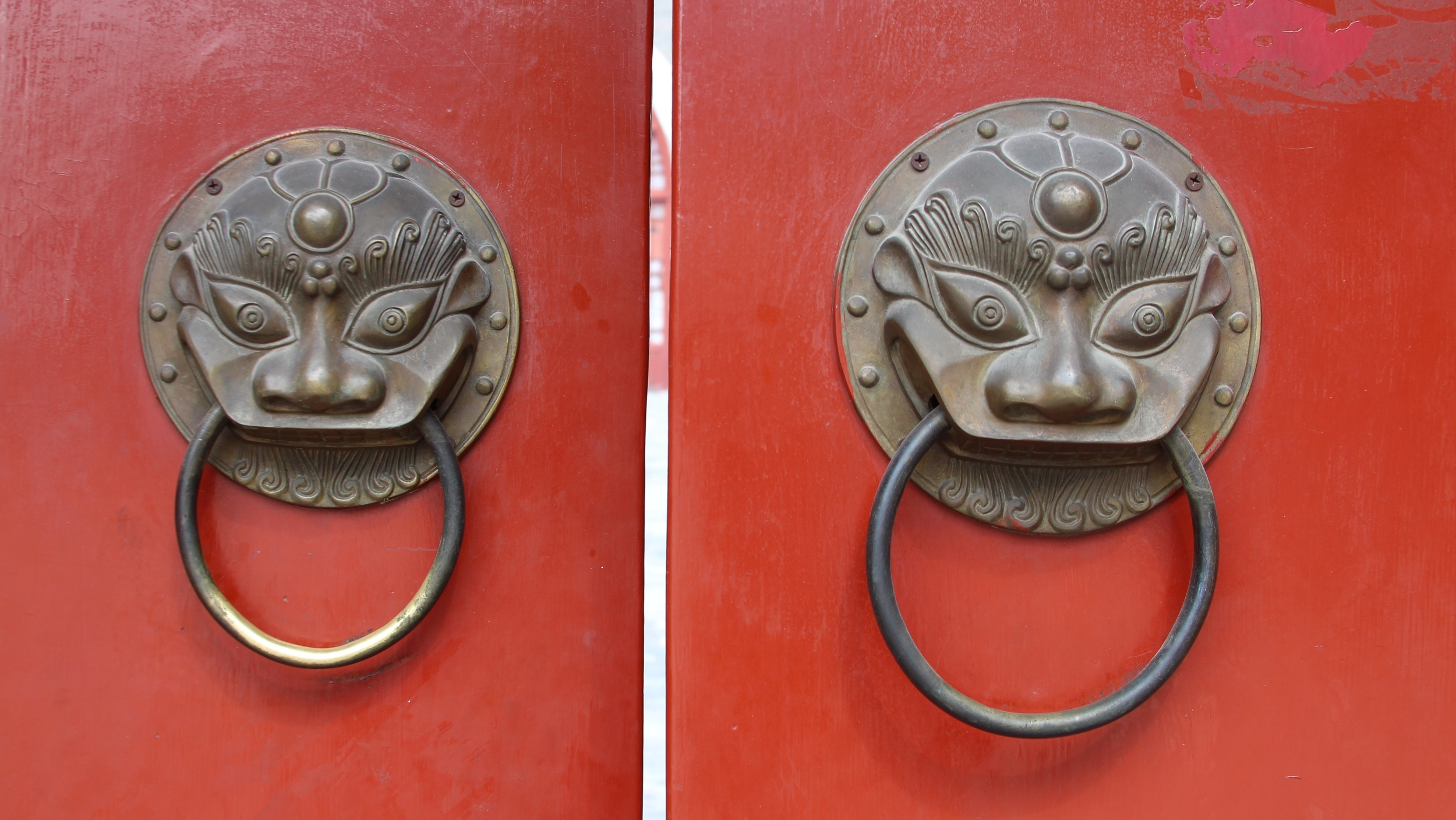 ...and these beautiful door pulls at the gate