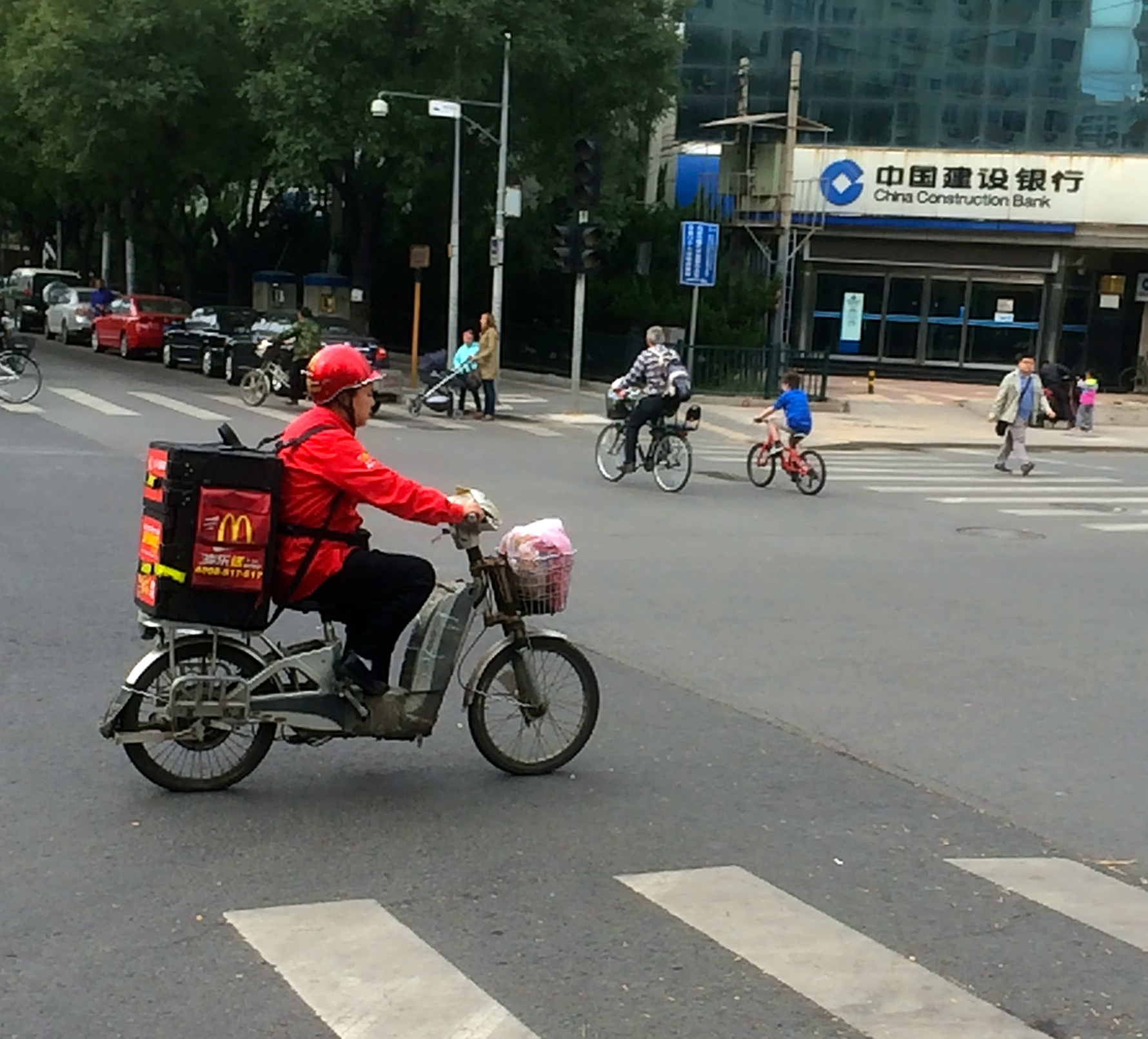 yes, that's a McDonald's delivery driver.