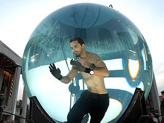 David Blaine set a world record for holding his breath underwater.