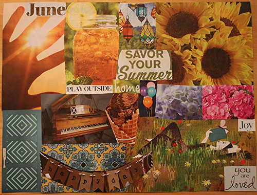 My collage for June. I've been making these the first of each month since sometime last year.