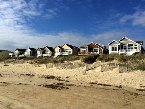 Beach houses where I and my Serendipity Sisters stayed in Nags Head, North Carolina