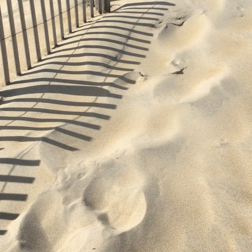 I posted this one to Instagram and wrote--Light and shadow. Structure and flow. Wind imprints on the sand.