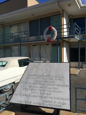 The site of Martin Luther King, Jr.'s assassination in Memphis, TN. Excuse the quality. I took it on my iphone.