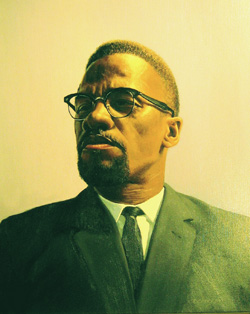 Malcolm X. Photograph from Malcolm X: In Action, NCAAA Museum Exhibition 2008.