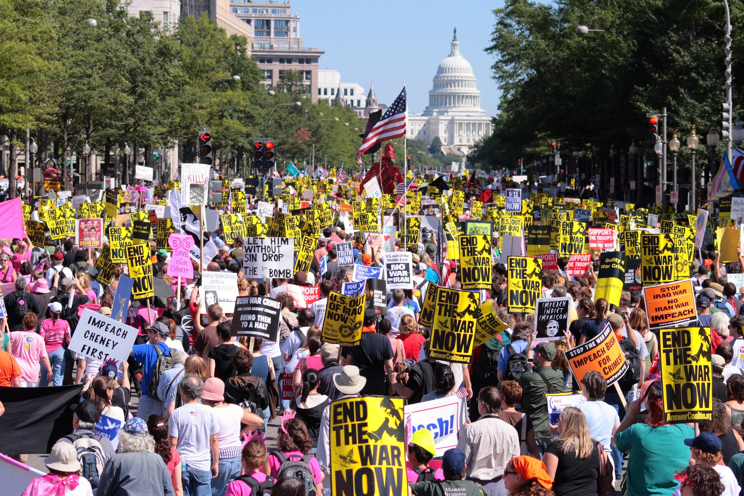 September 2007 Anti-Iraq War Protest, organized by theVeterans for Peace and the Answer Coalition
