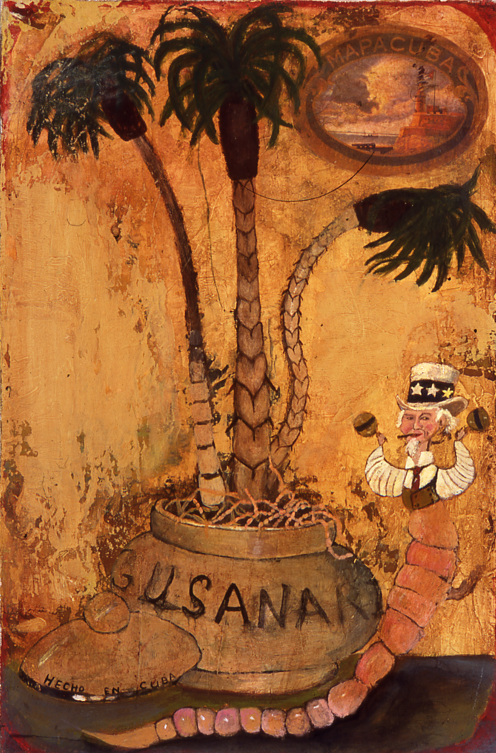 "Gusanaria, Acrylic on canvas, 18"" x12"", 2001"