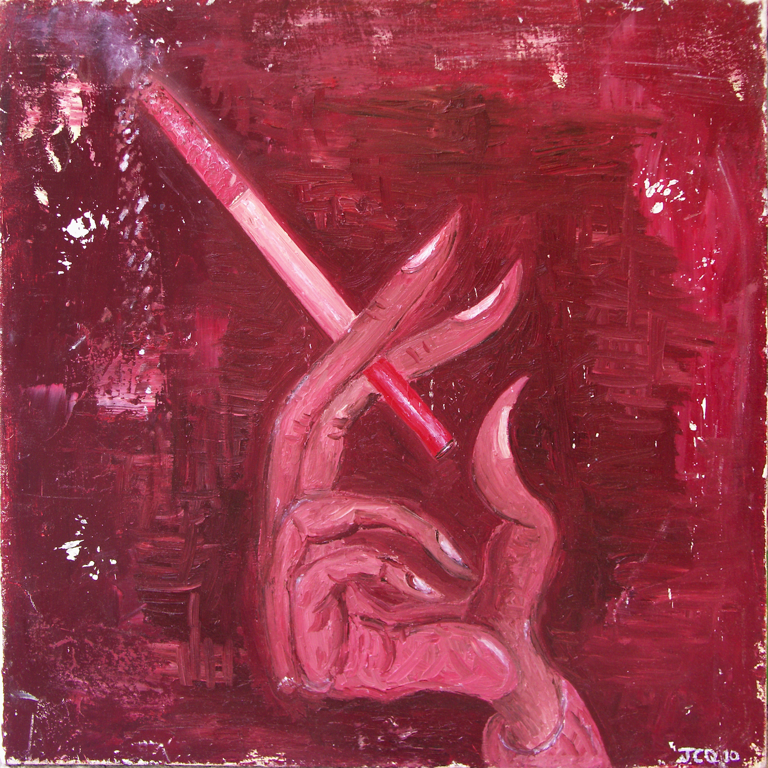 Untitled (red hand)