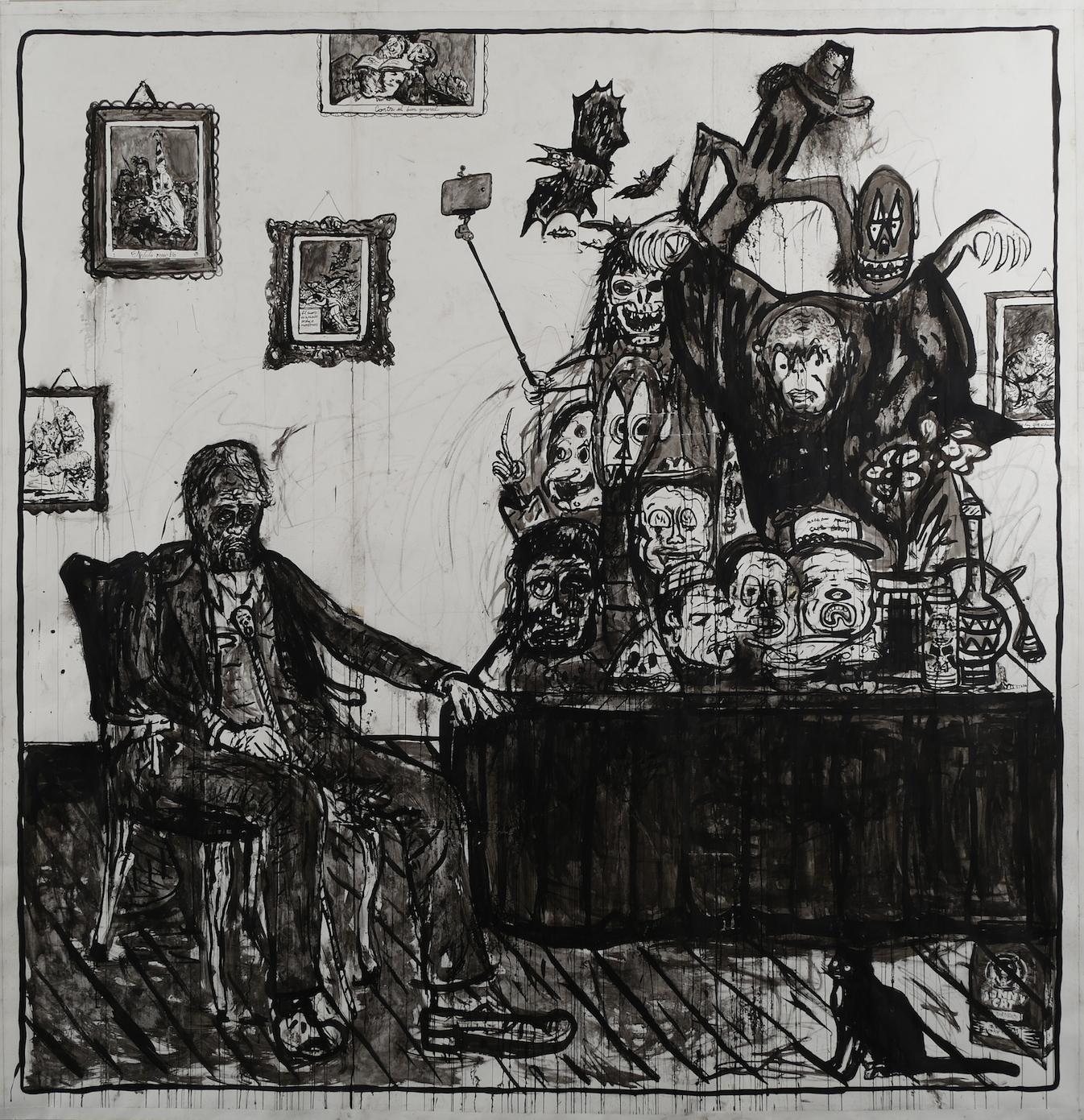 Art Collector's Dream Produces Demons(after Goya Los Caprichos).jpg