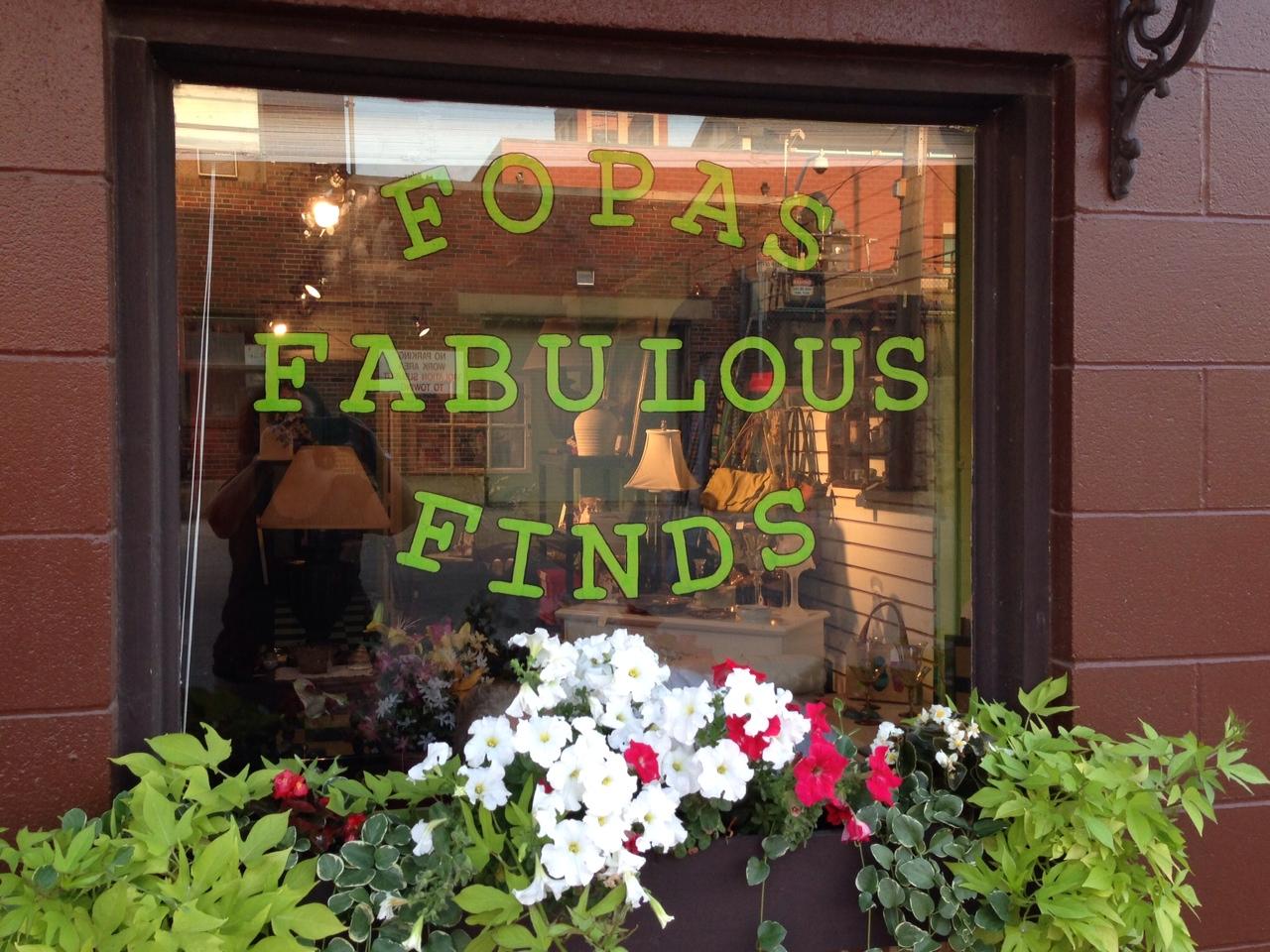 Shop at FOPAS Fabulous Finds!