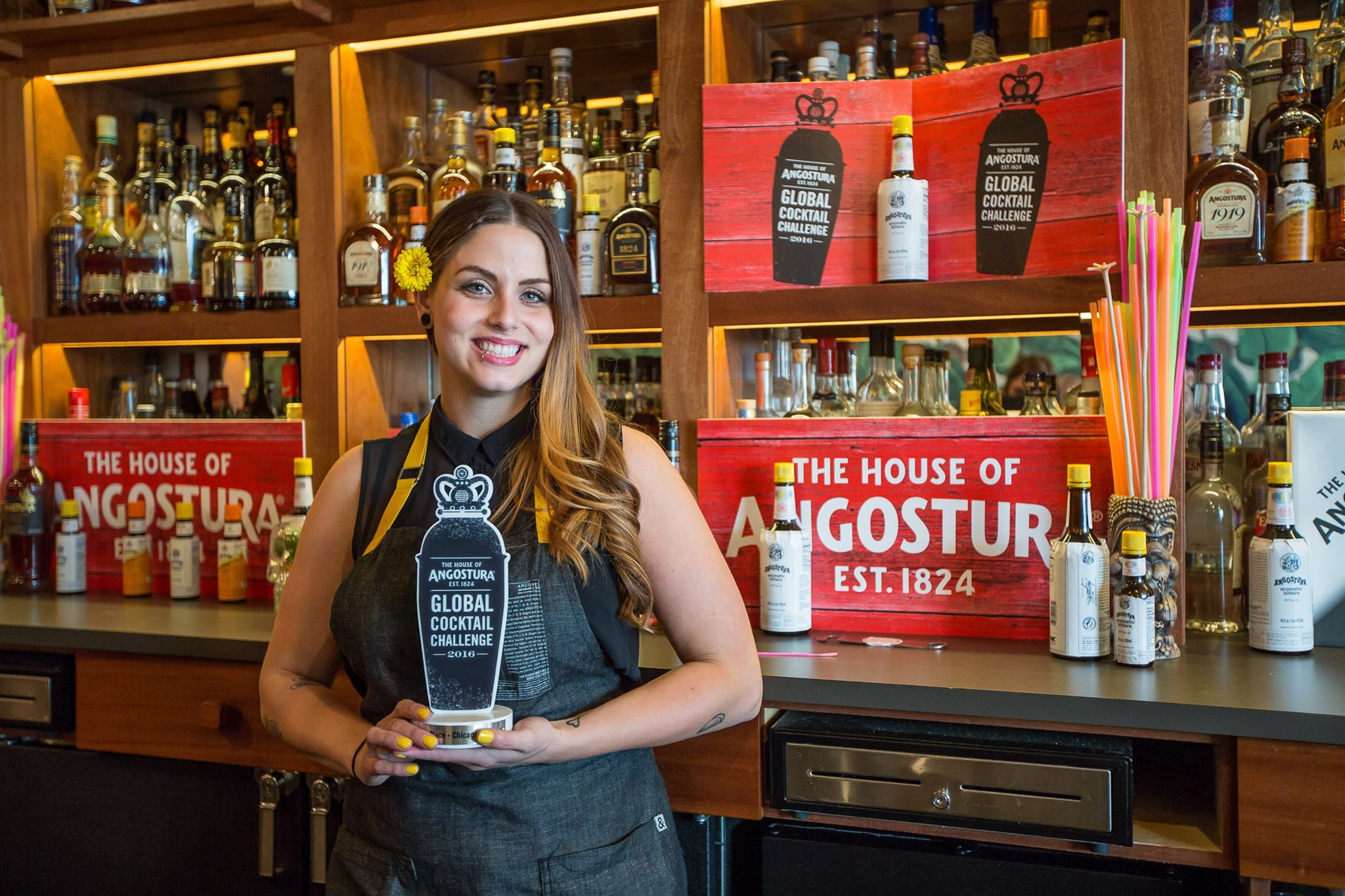 Elizabeth Mickiewicz at the 2016 Angostura Global Cocktail Challenge