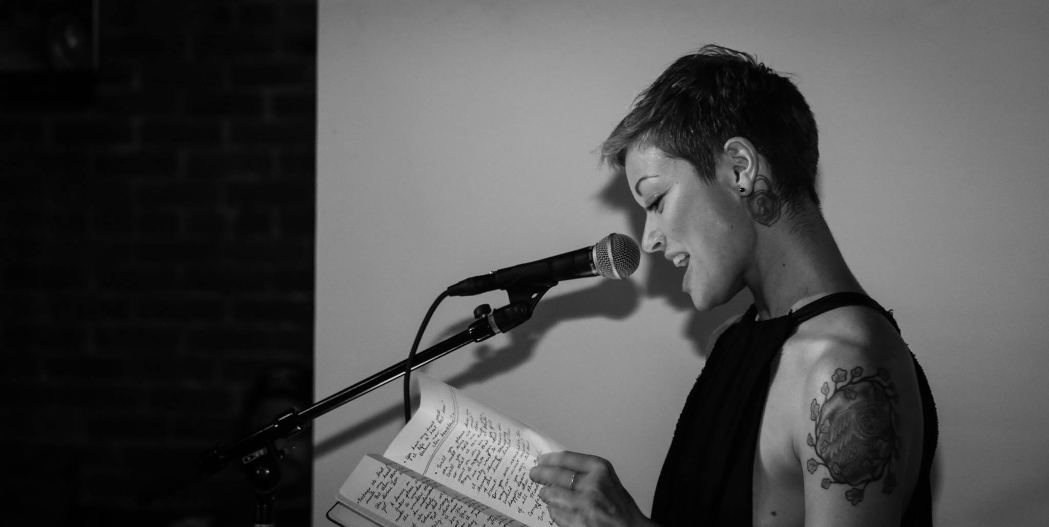 Anna Knudson moved the audience to tears with her spoken word | Photo by Eugene Lee