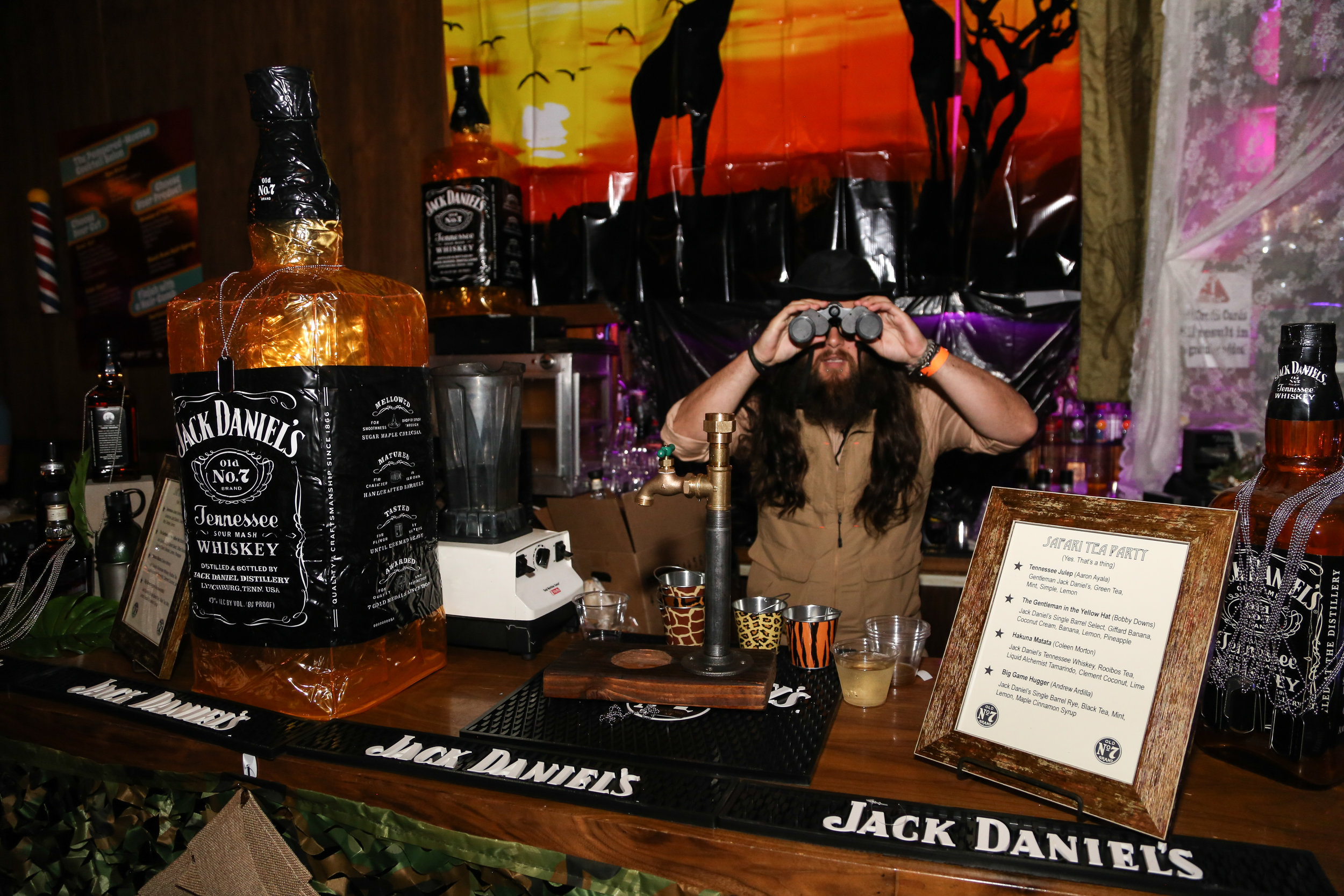 The safari-themed Jack Daniel's bar at ABTG VI | Photo by Eugene Lee