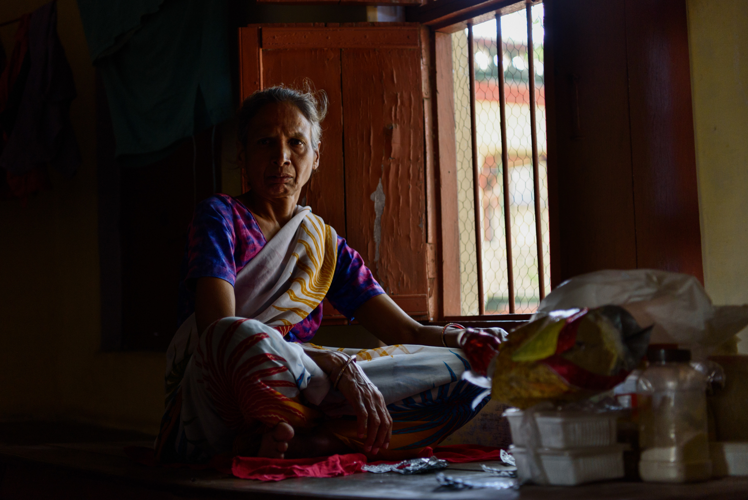Sushila Sharma, 60, was abandoned by her family in Kolkata. She has been a resident at the Mumukshu Bhawan for 8 years.