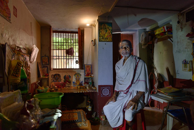 Murali Mohan Shastri, 75,  a resident of the Mumukshu Bhawan in Varanasi.
