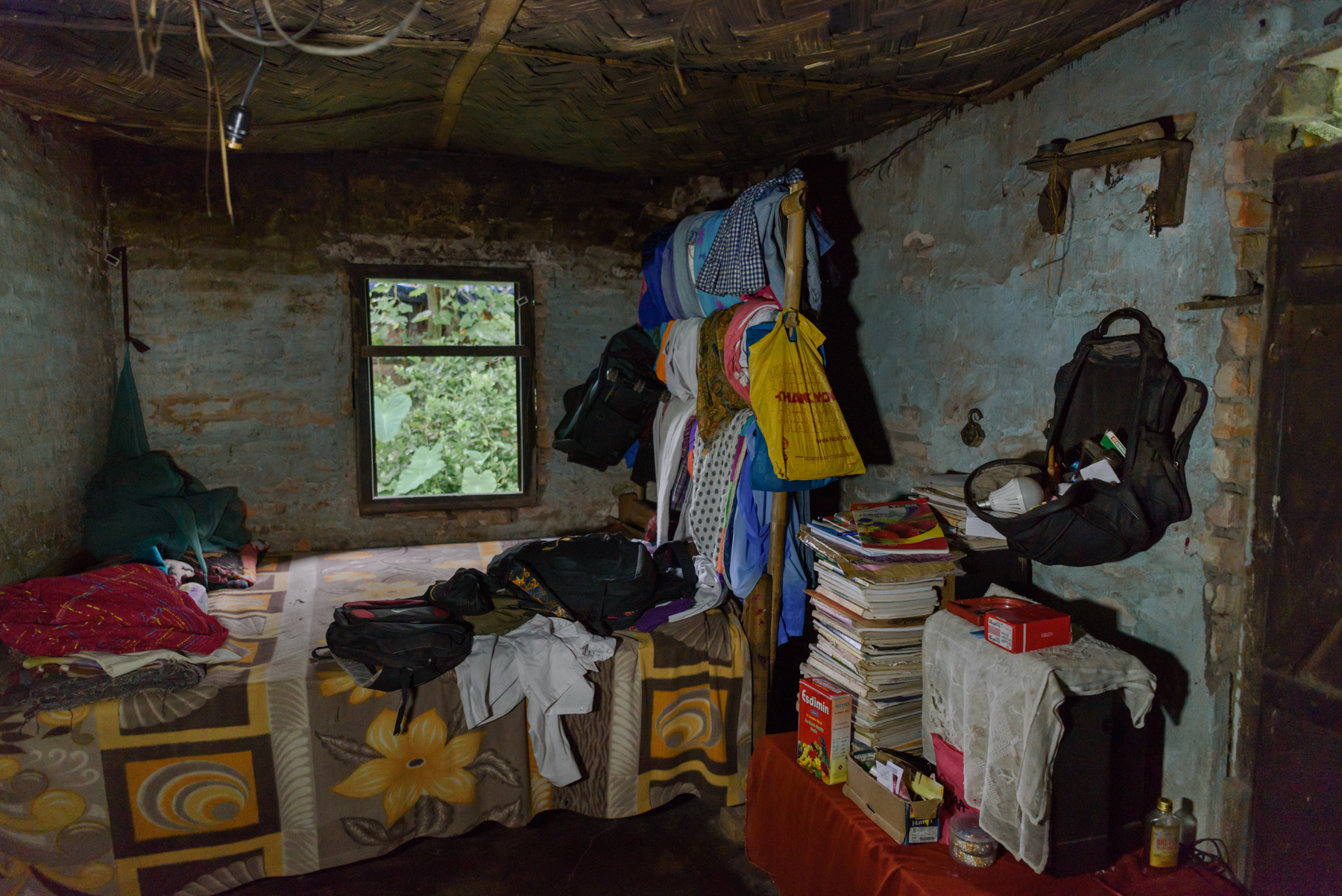 The house of Champa Soren, 35, who was trafficked in 2014 from the Chengmari Tea Garden. Champa used to be severely beaten by her abusive husband. To escape that, Champa fell into the hands of a trafficker who promised her a job and took her to Delhi and sold her for $300. Champa was rescued from Sonipat in July 2017.