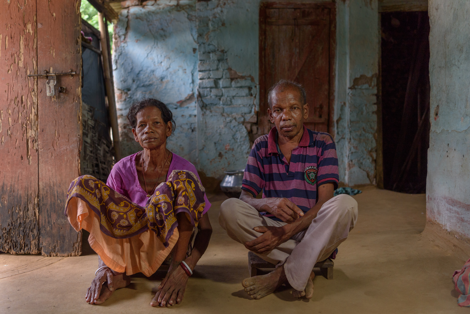 Sanchariya Oraon, 42, and Fhago Oraon, 45 at their home in Matelli. The couple's daughter Asha, 16, has been missing since six years. An acquaintance took Asha to the neighbouring state of Sikkim to work as a maid at a tourist lodge. Asha never returned home and there is no information about her whereabouts.