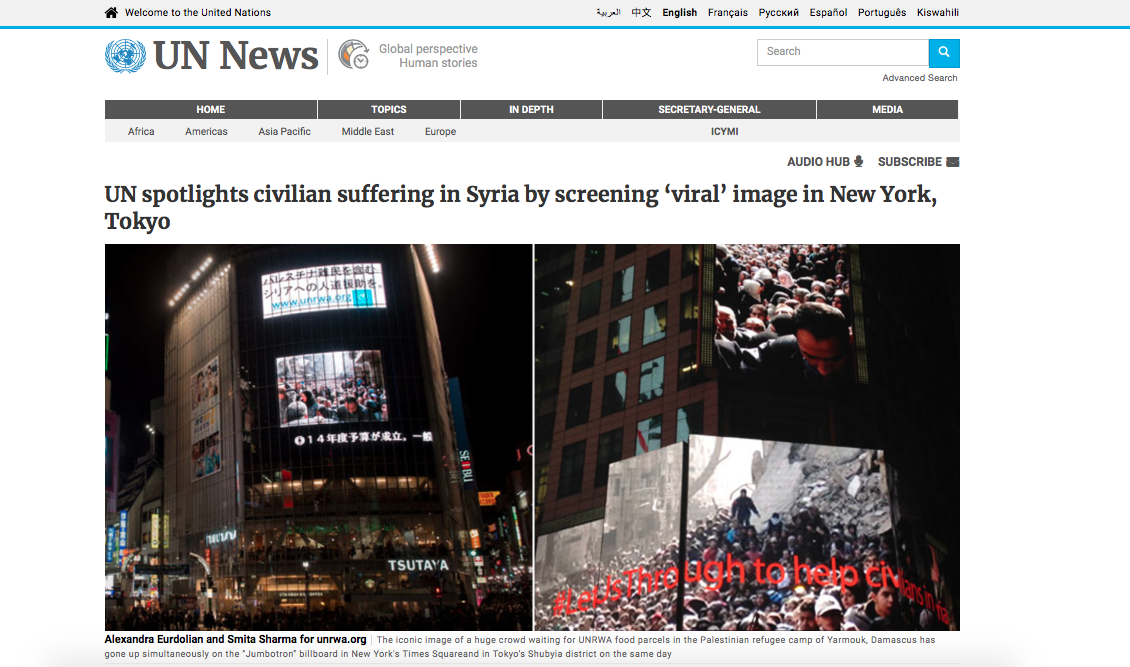 https://news.un.org/en/story/2014/03/464402-un-spotlights-civilian-suffering-syria-screening-viral-image-new-york-tokyo