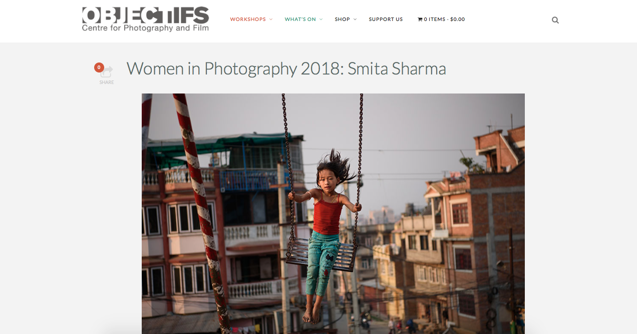 Women in Photography 2018 slideshow projection: Women Photograph at Objectifs' Women in Film and Photography  Stolen Futures | Smita Sharma    https://www.objectifs.com.sg/wip2018_smitasharma/