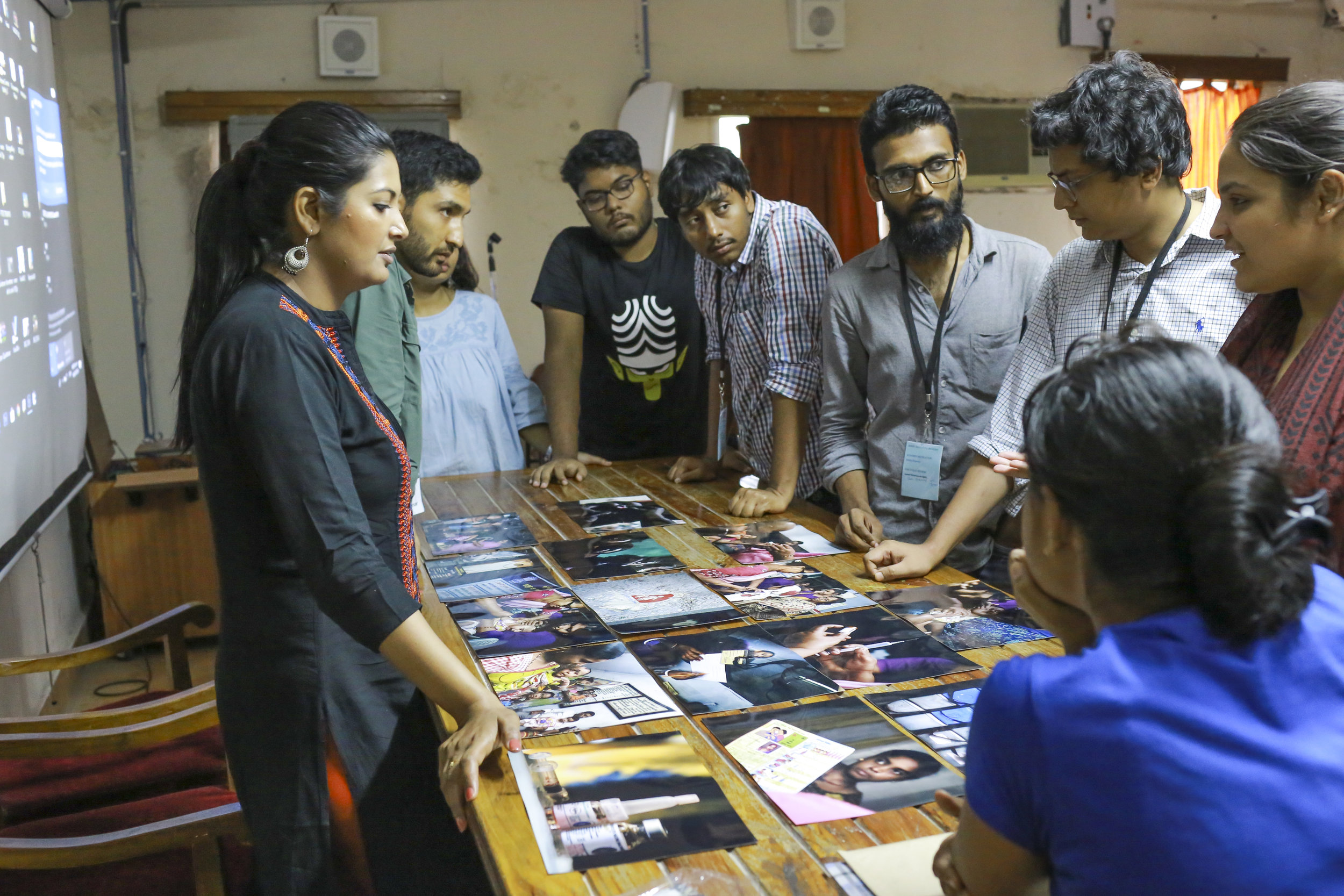 Instructor at Foundry Photojournalism Workshop in Kolkata, India, 2018.