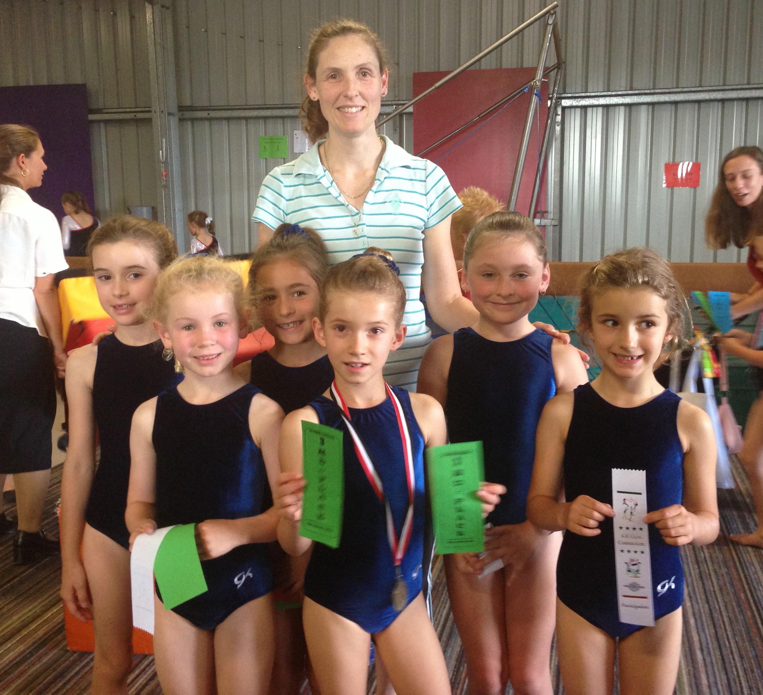Our Intermediate Level 1 team: Tandia, Mackenzie, Chloe  Our Junior Level 1 team: Harriet, Mia, Bridget