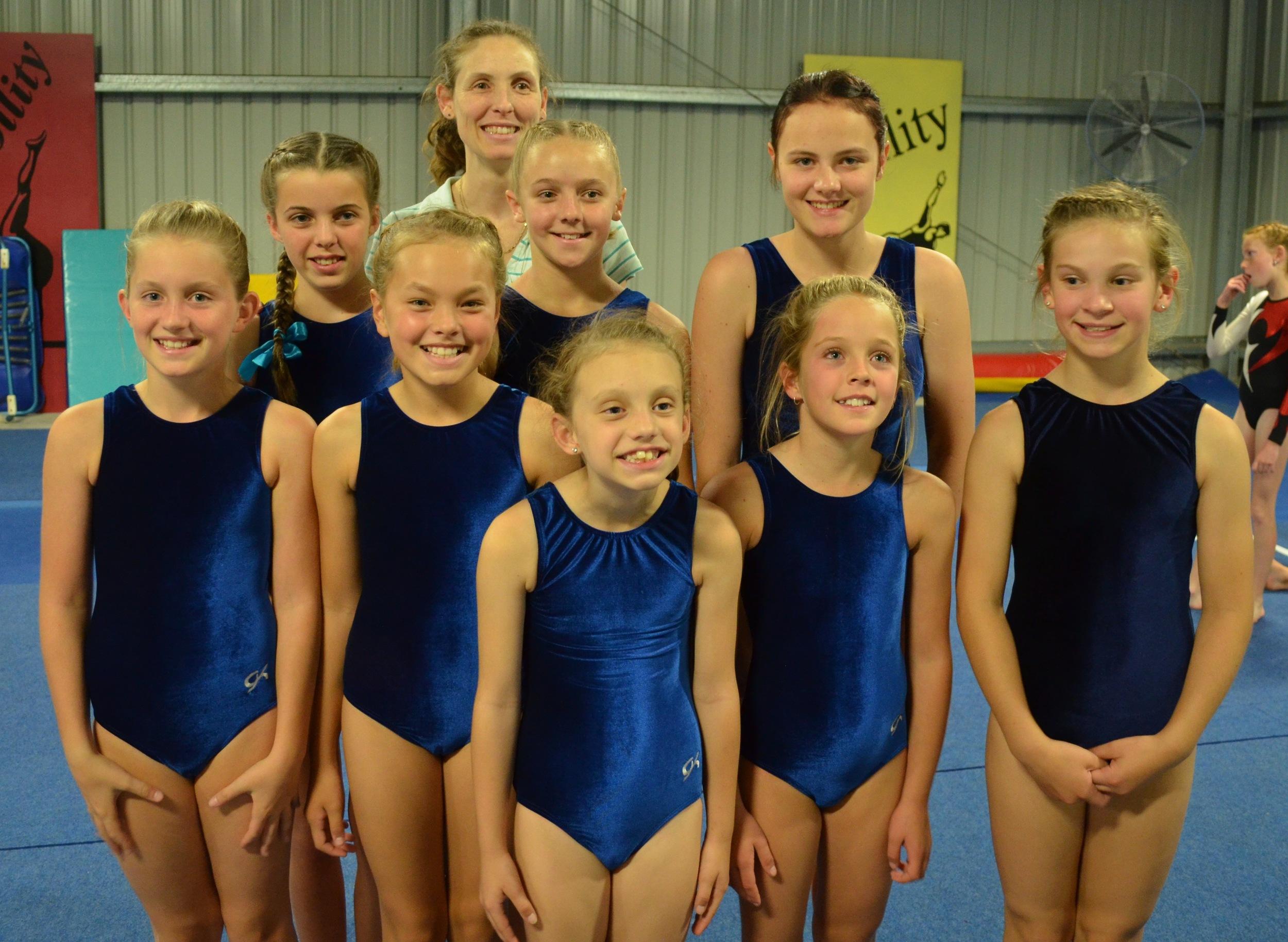 Our Senior Level 1 Team: Back - Emily, Amber, Jade Front - Maggie, Keira, Dominique, Jessica, Megan