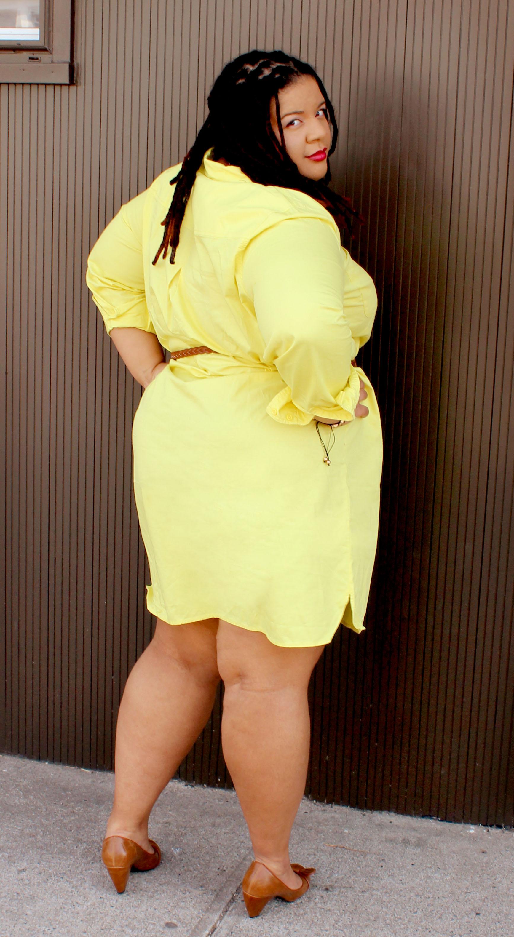 Plus Size Yellow Dress