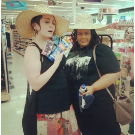 This was us in Walgreens straight stuntin' #BeenTrill.