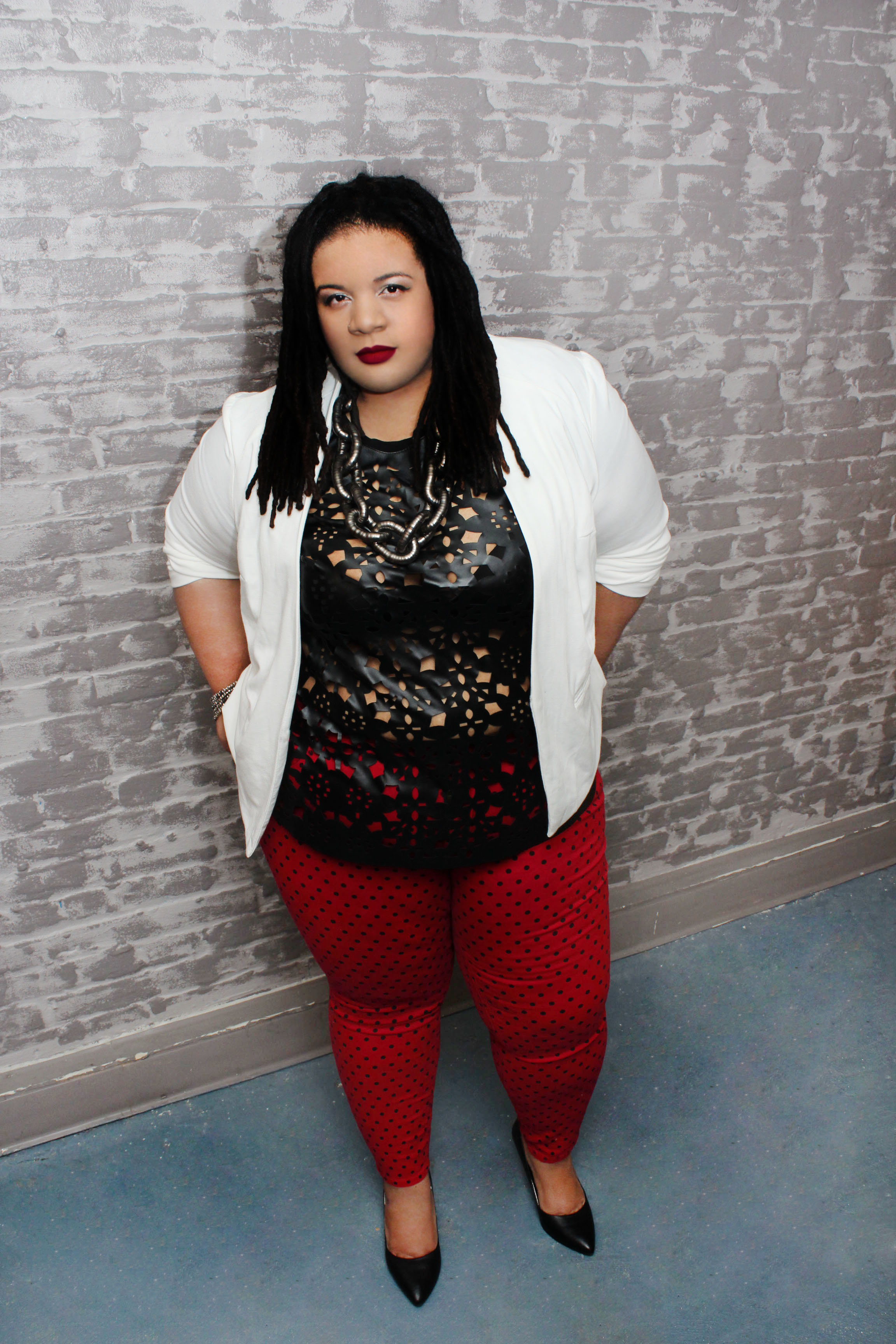 Plus size monochrome