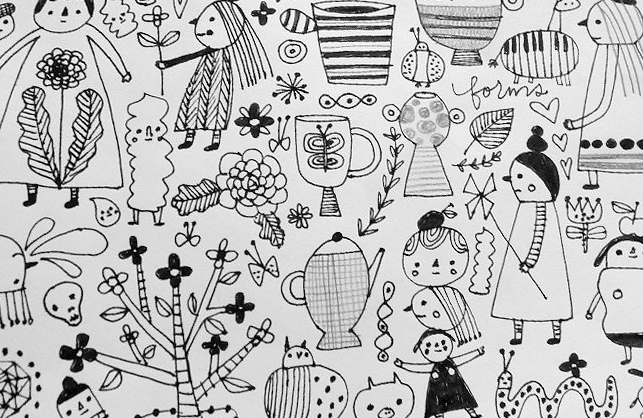 Peek into my sketch book © Flora Chang | Happy Doodle Land