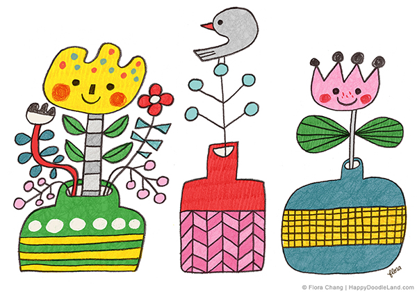 Vases © Flora Chang | Happy Doodle Land.png