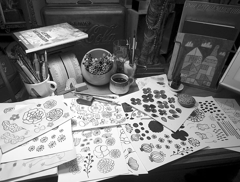 Studio © Flora Chang | Happy Doodle Land